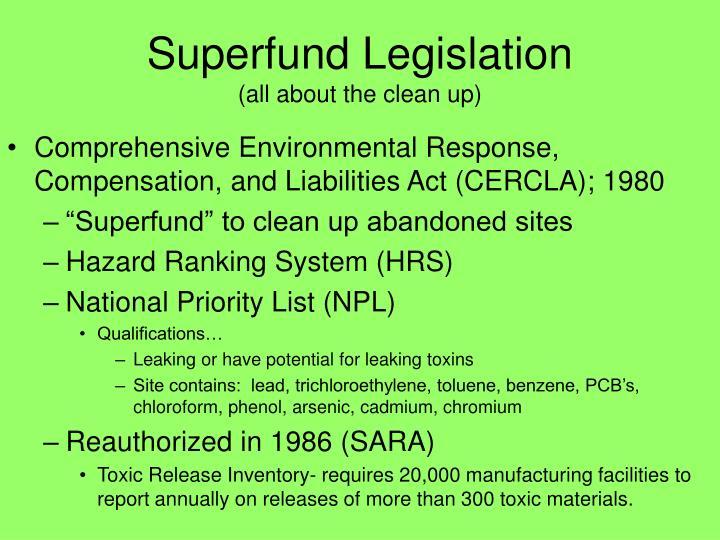 Superfund Legislation