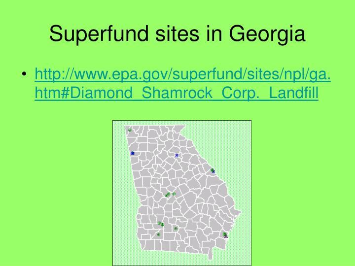Superfund sites in Georgia
