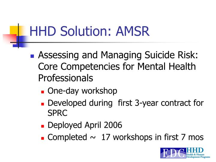 HHD Solution: AMSR