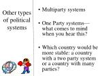 other types of political systems