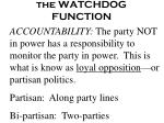 the watchdog function