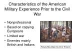 characteristics of the american military experience prior to the civil war
