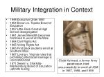 military integration in context