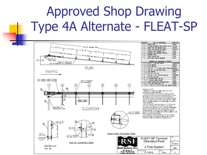 Approved Shop Drawing