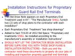 installation instructions for proprietary guard rail end terminals