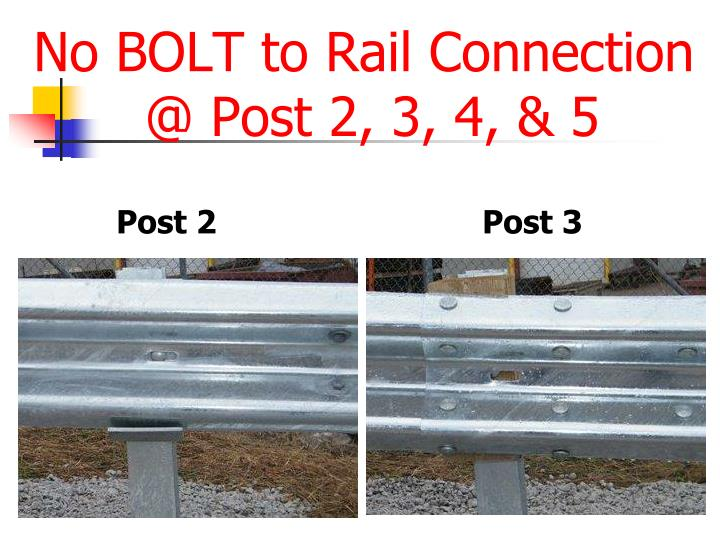 No BOLT to Rail Connection
