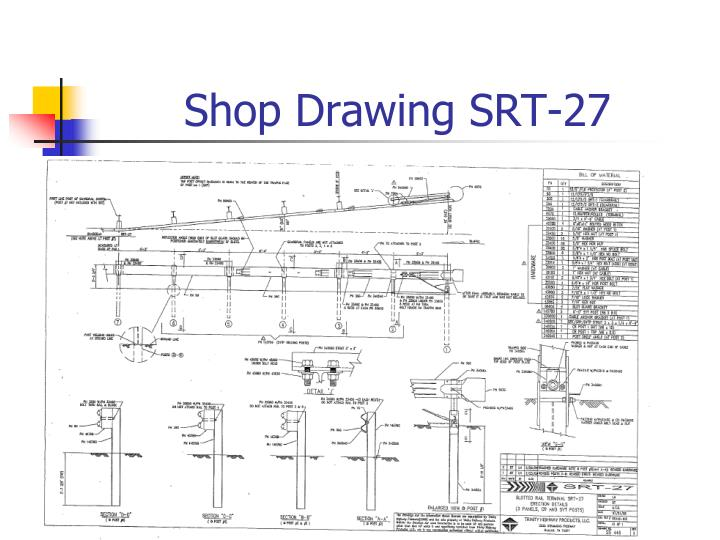 Shop Drawing SRT-27
