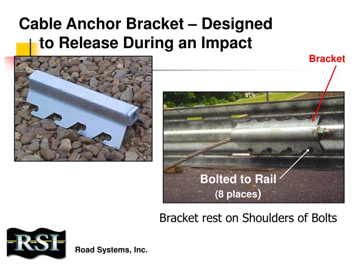 Cable Anchor Bracket – Designed to Release During an Impact