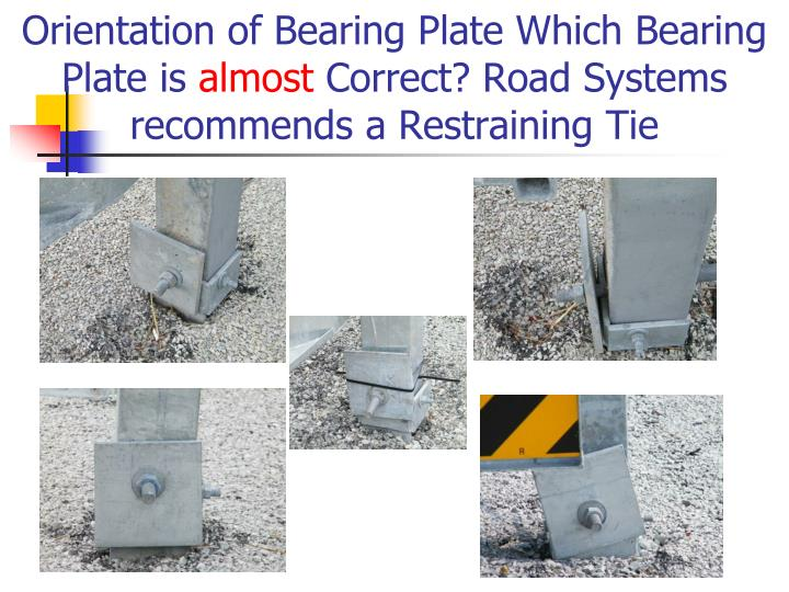 Orientation of Bearing Plate Which Bearing Plate is