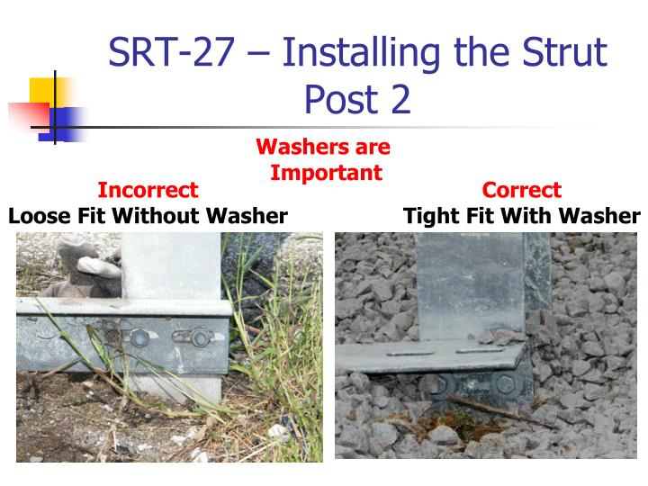 SRT-27 – Installing the Strut