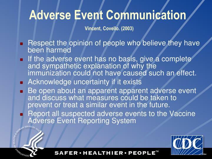 Adverse Event Communication
