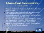adverse event communication vincent covello 2003
