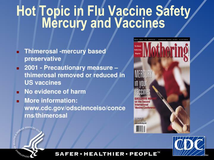 Hot Topic in Flu Vaccine Safety