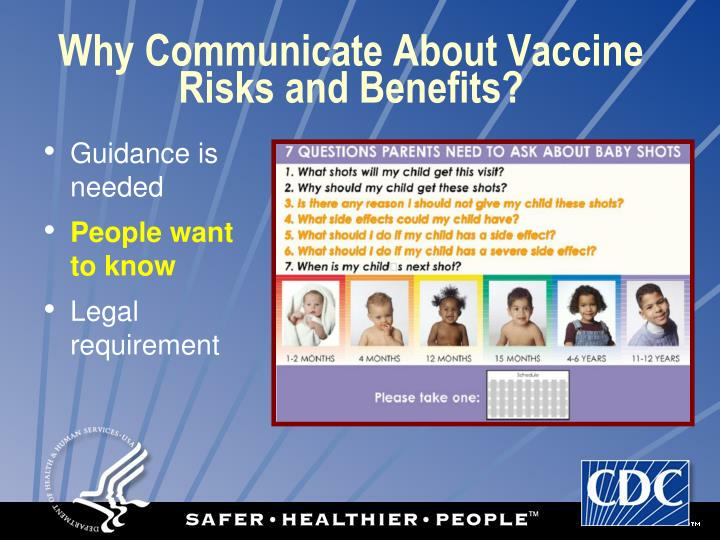 Why Communicate About Vaccine Risks and Benefits?