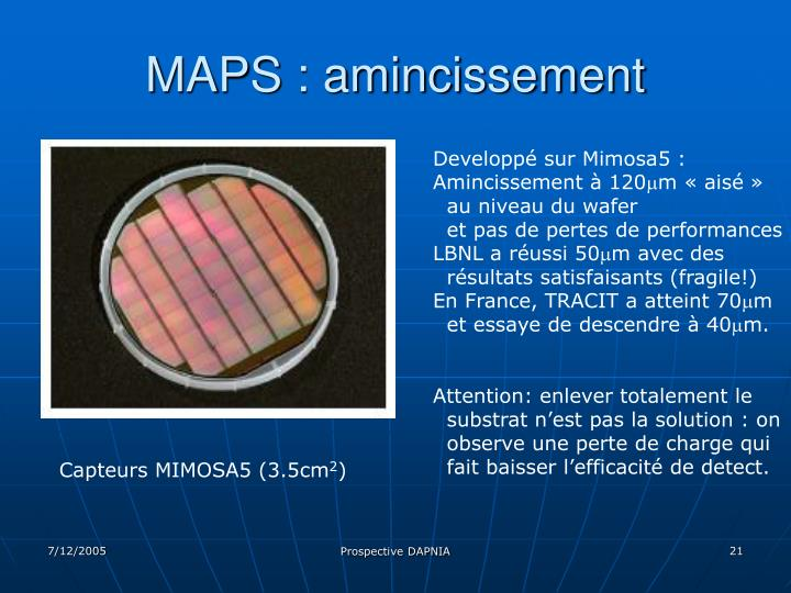 MAPS : amincissement