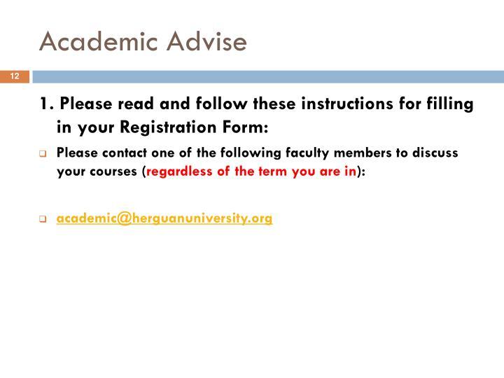 Academic Advise