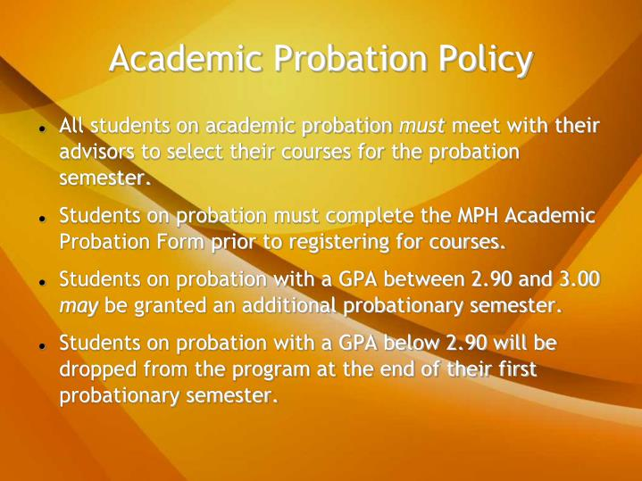 Academic Probation Policy