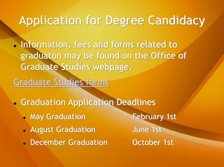 Application for Degree Candidacy