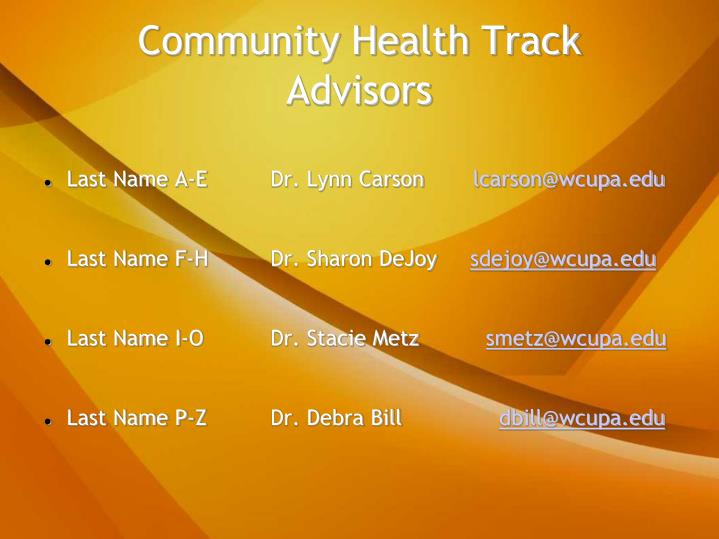 Community health track advisors