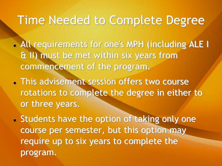 Time Needed to Complete Degree
