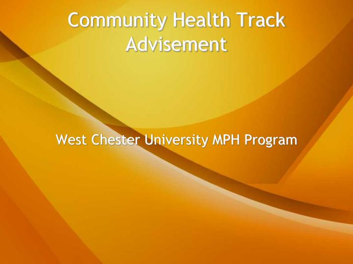west chester university mph program