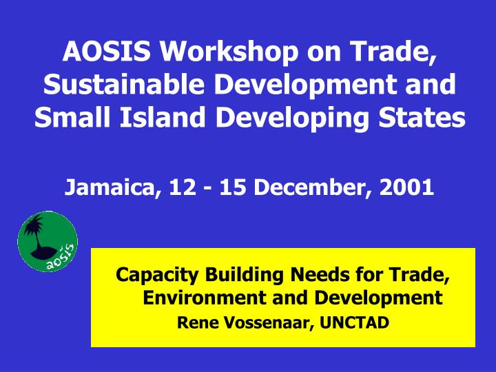 AOSIS Workshop on Trade, Sustainable Development and