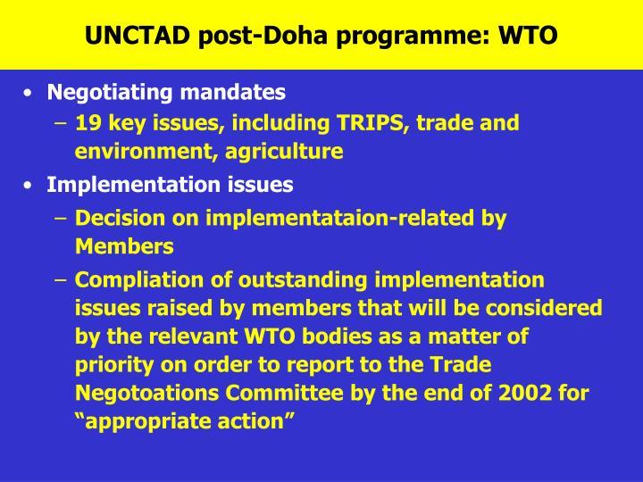 UNCTAD post-Doha programme: WTO
