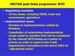 unctad post doha programme wto