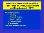 unep unctad capacity building task force on trade environment and development cbtf