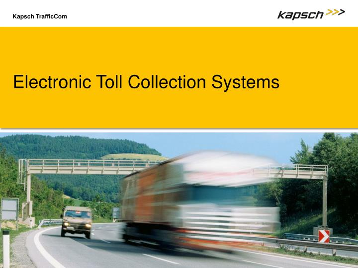 Electronic Toll Collection Systems