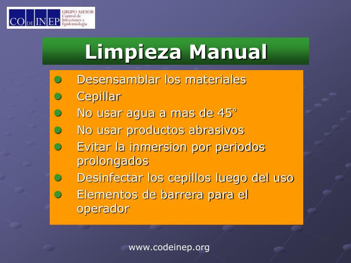 Limpieza Manual