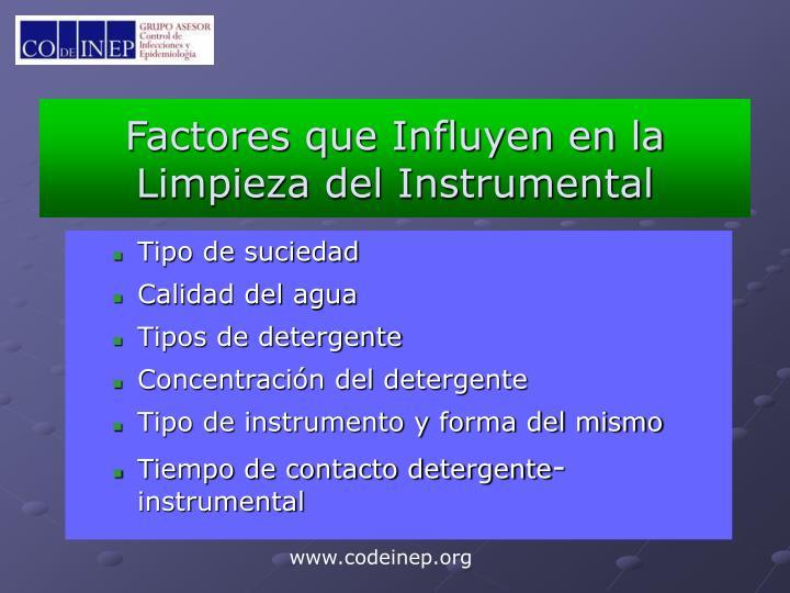 Factores que Influyen en la Limpieza del Instrumental