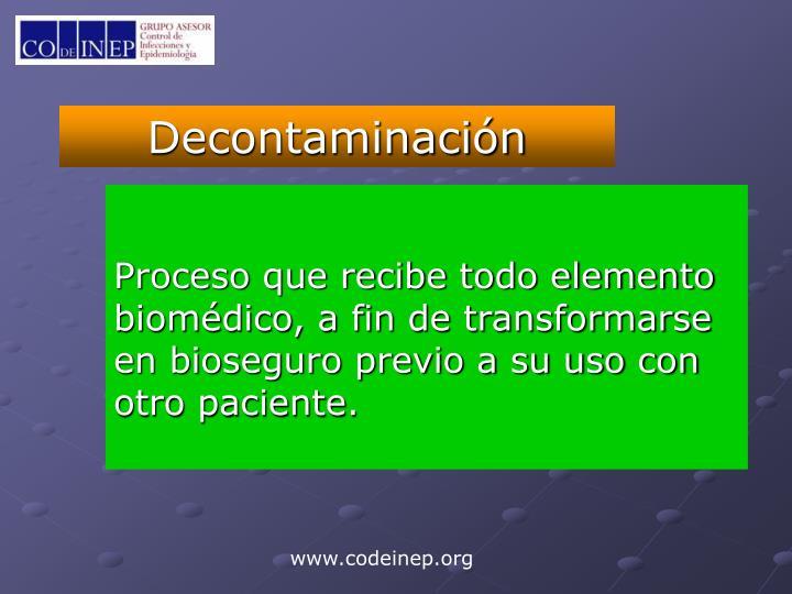 Decontaminación
