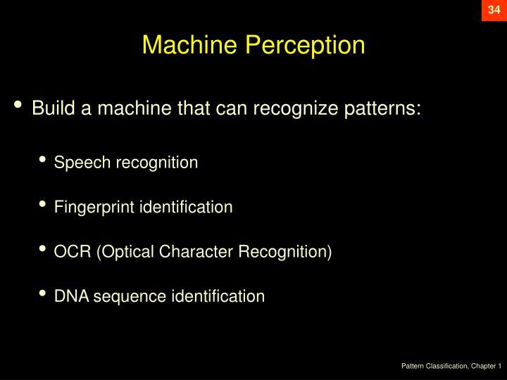 Machine Perception