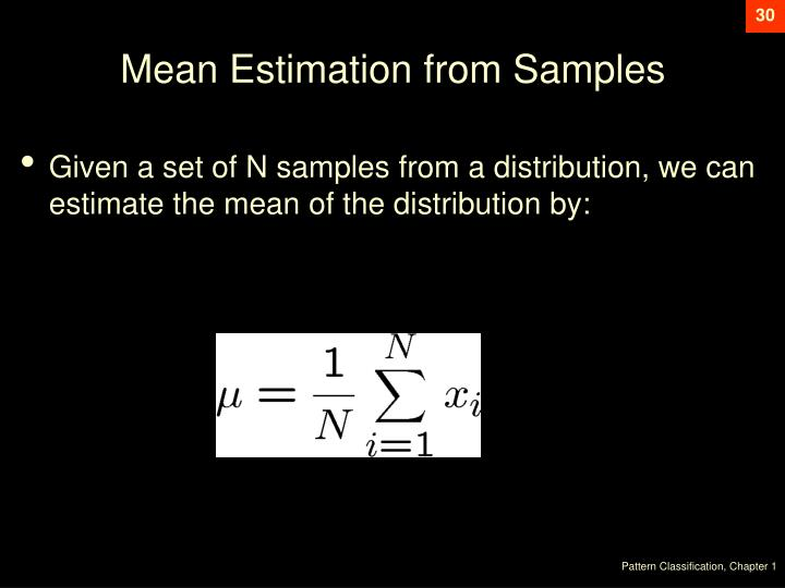 Mean Estimation from Samples