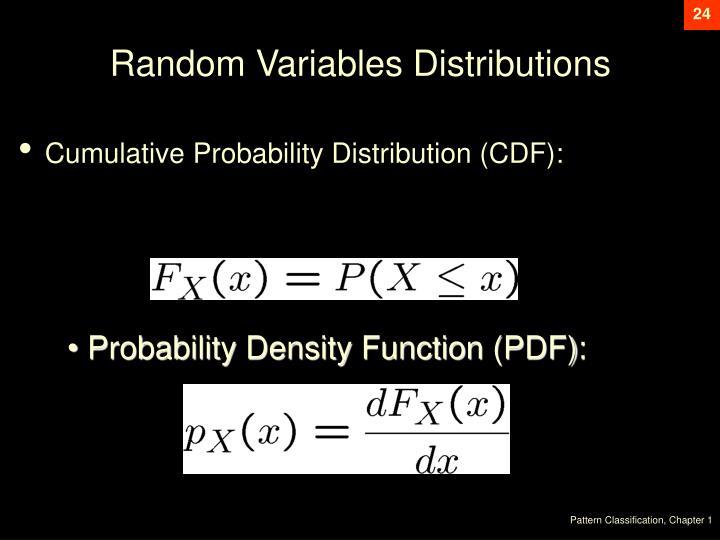 Random Variables Distributions