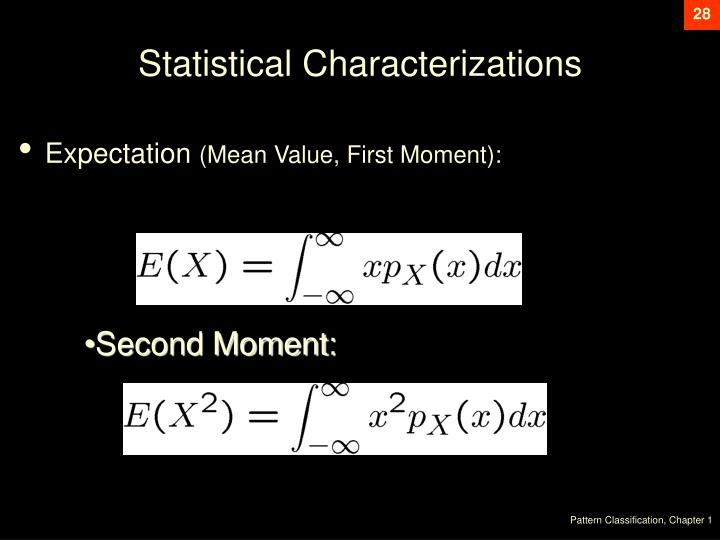 Statistical Characterizations