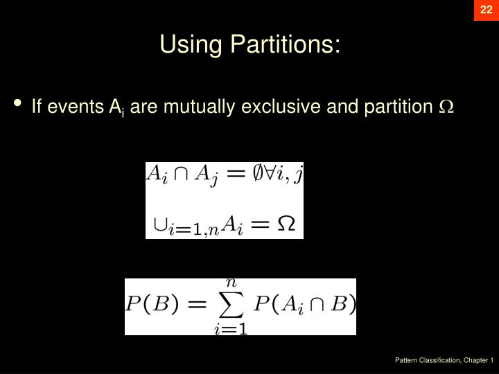 Using Partitions: