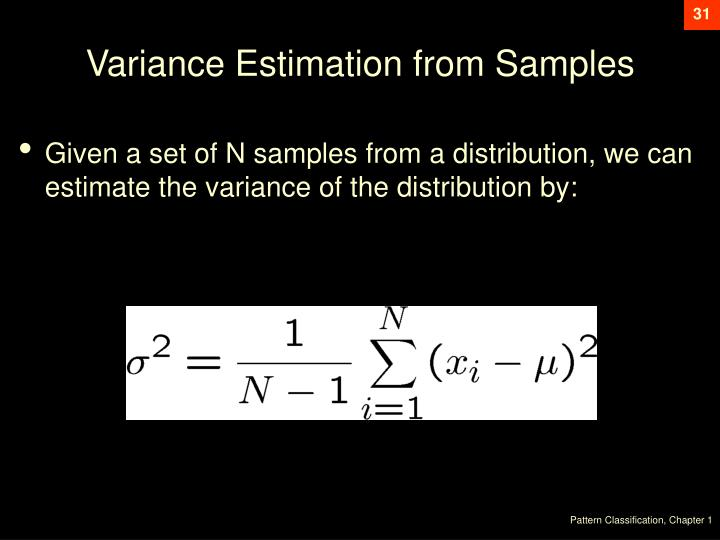 Variance Estimation from Samples