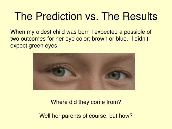 The Prediction vs. The Results