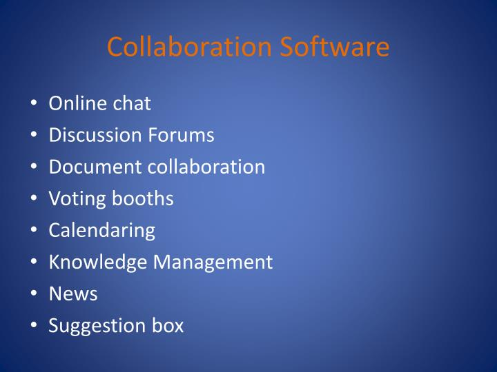 Collaboration Software