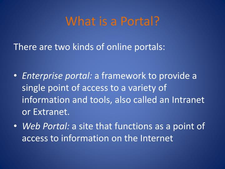 What is a portal