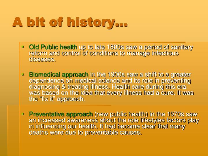 A bit of history…