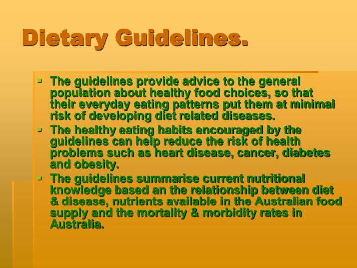 Dietary Guidelines.