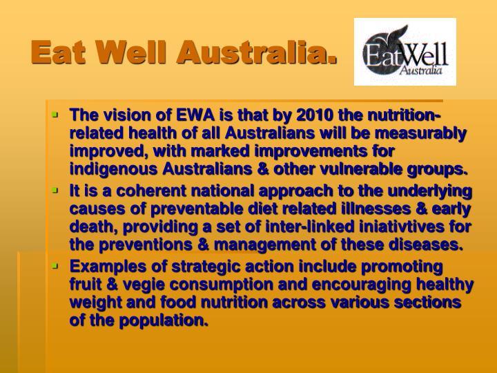 Eat Well Australia.