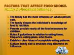 factors that affect food choice family household influence