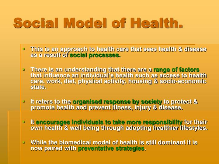Social Model of Health.