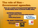the role of non government agencies