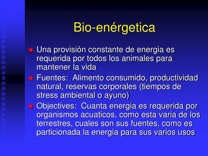 Bio-enérgetica