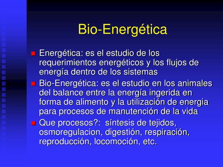 Bio-Energética